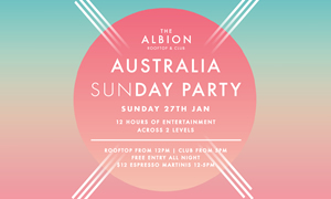 Australia Sunday Party at The Albion Melbourne