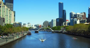 Melbourne's Yarra River on Australia Day
